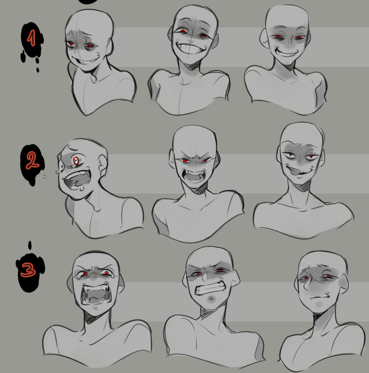 Insane Expressions Reference Drawing Face Expressions Anime Poses Reference Art Reference Photos