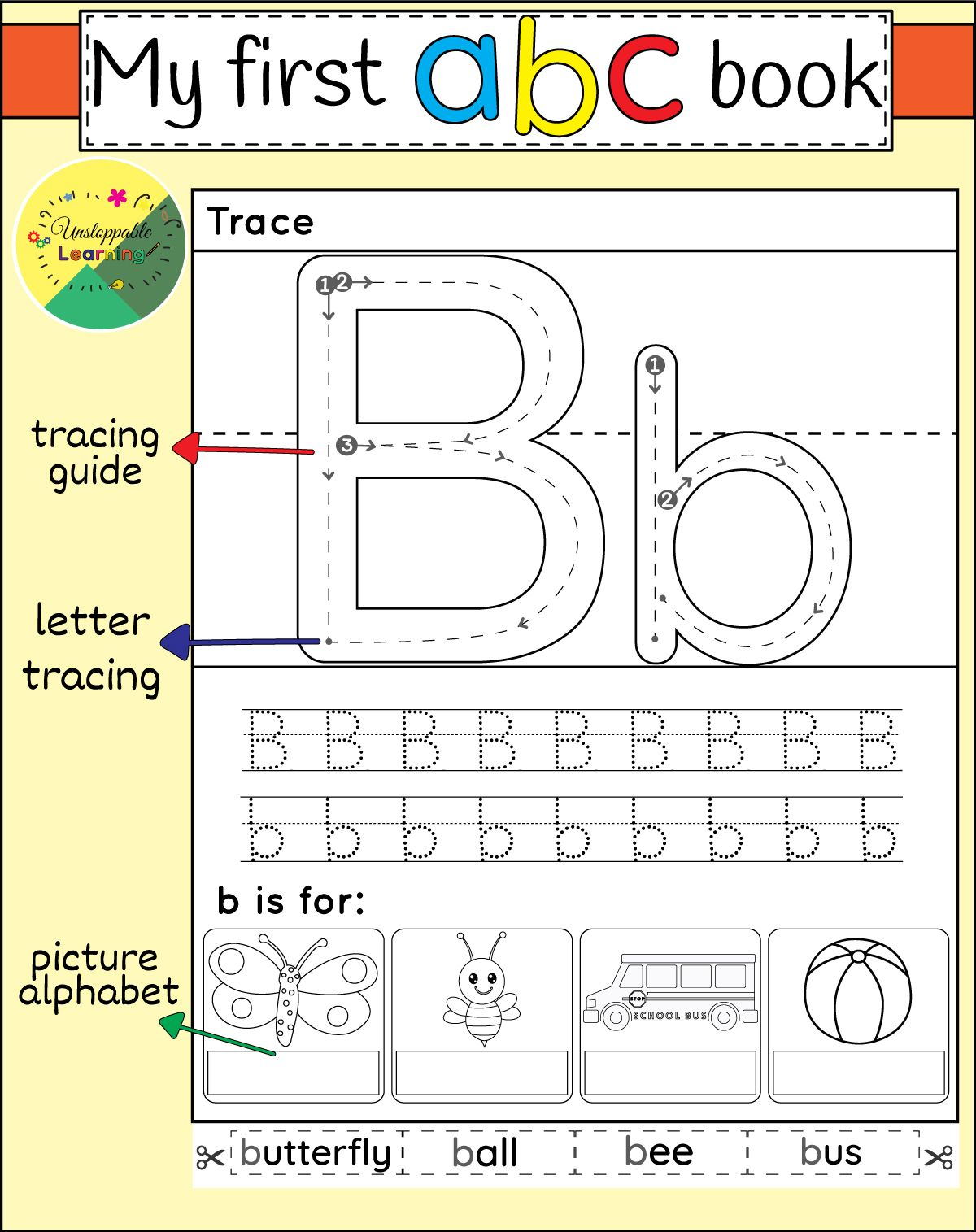 My First Abc Interactive Alphabet Worksheets