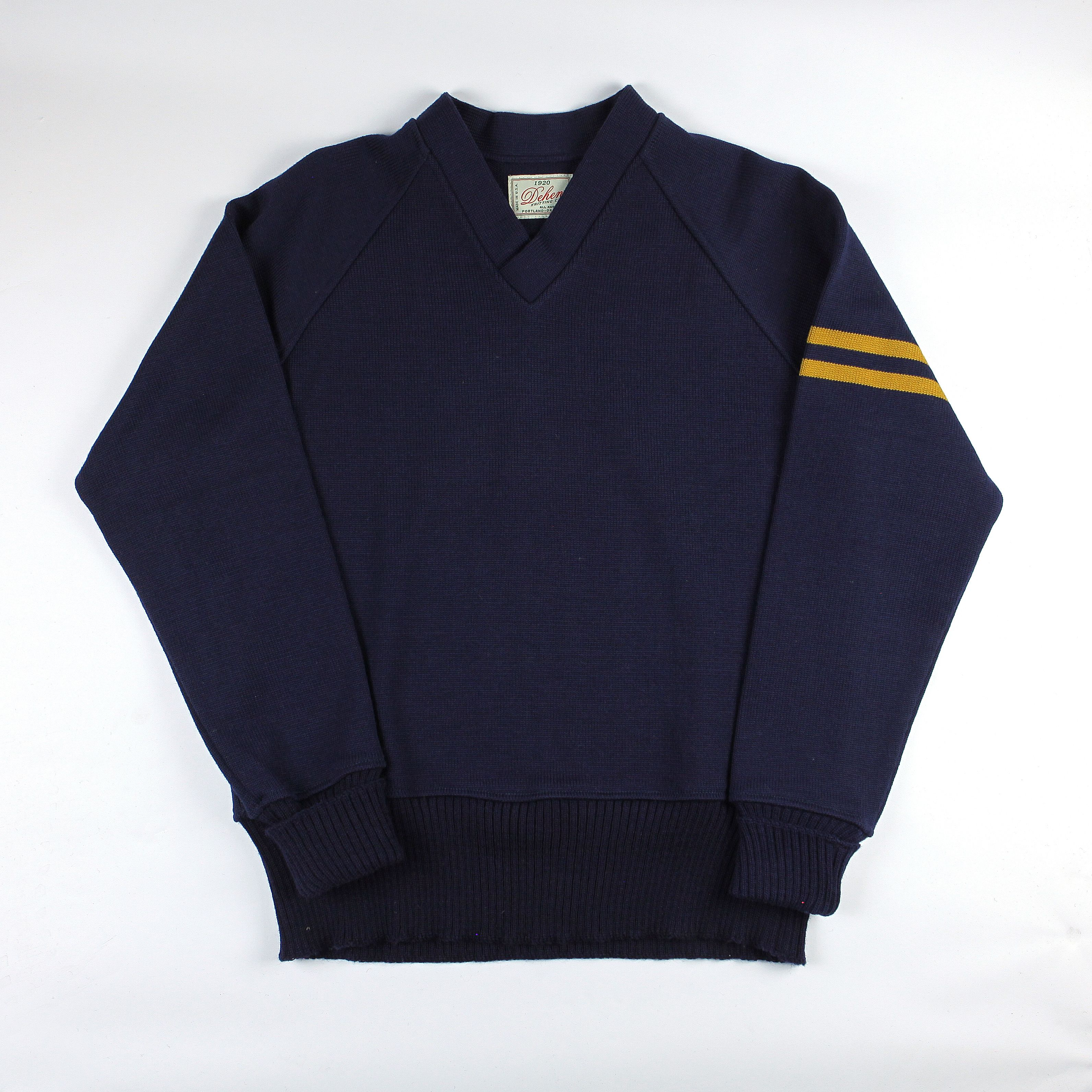 Dehen 1920 Varsity V-Neck (Navy/Old Gold) | Sweaters | Pinterest