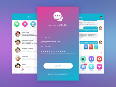 Chat and Pay App by purwaji santoso