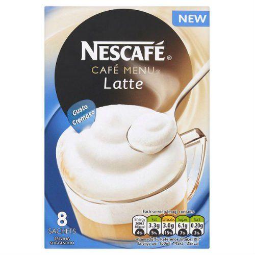 Nescafe Cafa Menu Latte Gusto Cremoso 8 X 195G Case Of 6