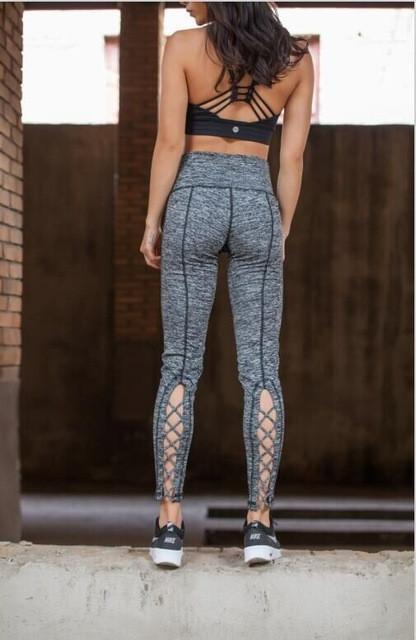c94a7ec0e0acb JNC Womens Yoga Pants Active Running Workout Fitness Leggings Dance Pants  Cutout Tie Cuff Slim Jogger Workout Tights