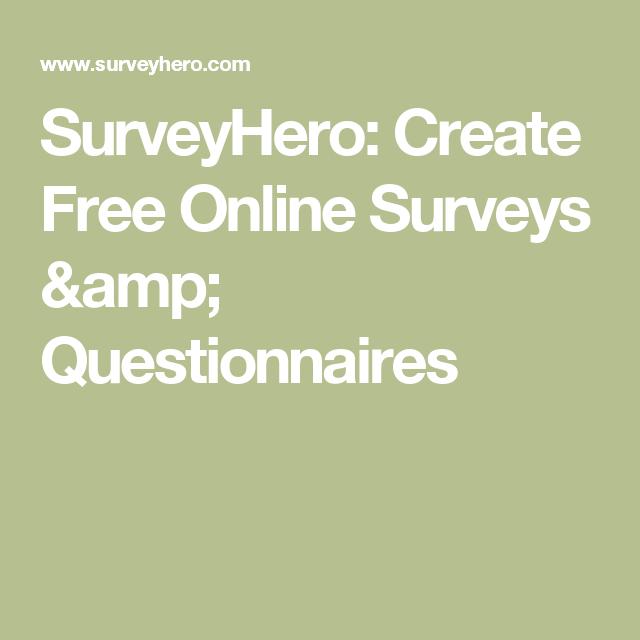 Surveyhero Create Free Online Surveys Amp Questionnaires