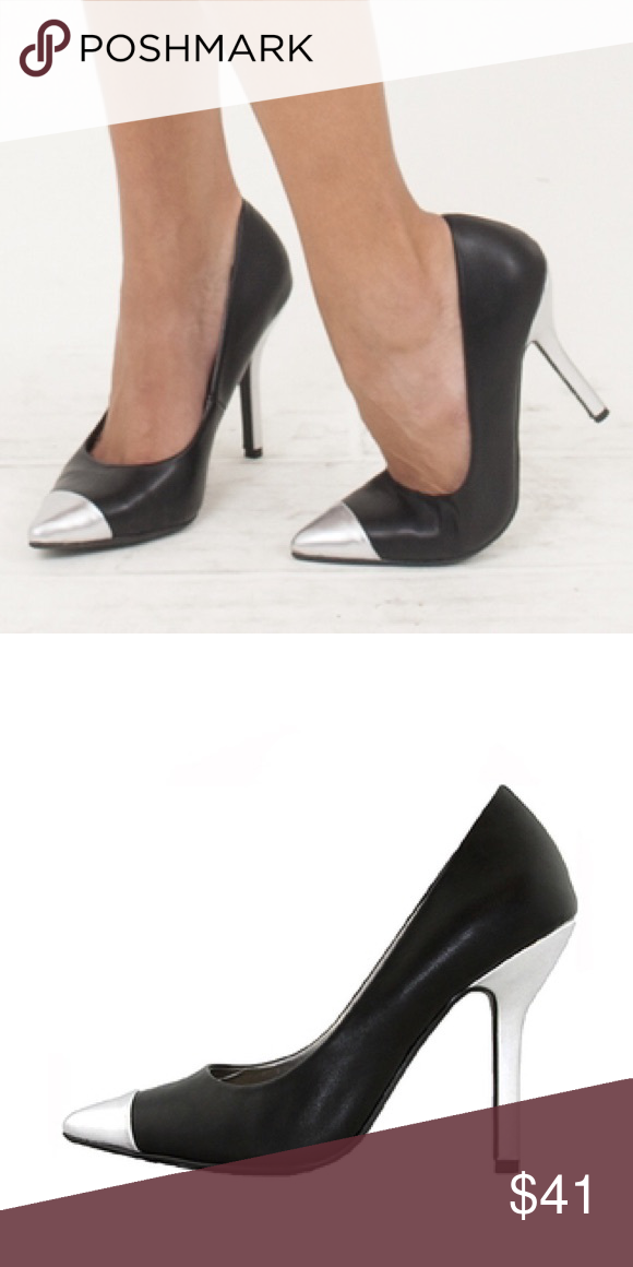 Black Shoes With Silver Heels