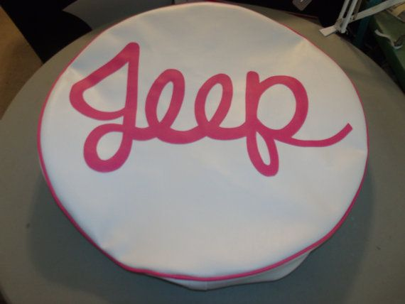 Monogram Spare Tire Cover Jeep by lxmboutique on Etsy