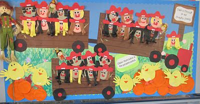 Hayride to the Pumpkin Patch #pumpkinpatchbulletinboard