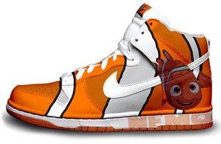 sports shoes bc9e4 6de6c Nike Dunks Custom Design Sneakers   Finding Nemo Nike Dunk SB High Premium  Pro Shoes A..