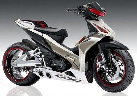 Foto Modifikasi Motor Honda Absolute Revo 110 Cc Modif Absolute Revo Motor Jalanan Motor Inspirasi