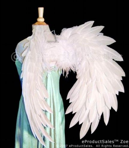 etsy eps white zoe feather angel wings for cosplay halloween ball costume - Halloween Costumes Angel Wings