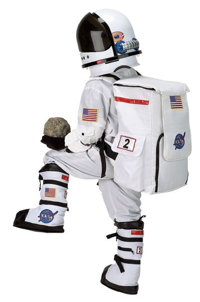 About Kids Astronaut Costume While it might not take your youngster to the moon and back, a kids' astronaut costume guarantees a good time trick-or-treating and very jealous friends. While other parents dress their kids in the usual costumes like witches, cats, and dogs, you can dress yours in an outfit that is out of this world.