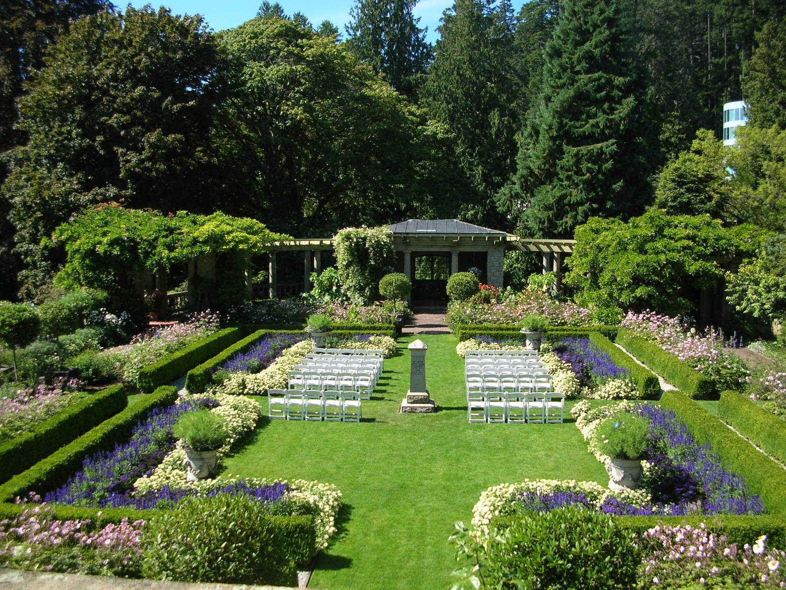 Italian Garden at Hatley Castle in Victoria, British ...