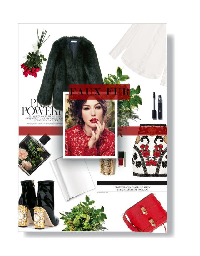 """faux fur"" by rennss ❤ liked on Polyvore featuring Dolce&Gabbana, THP, Nest Fragrances, Joseph and Hanky Panky"