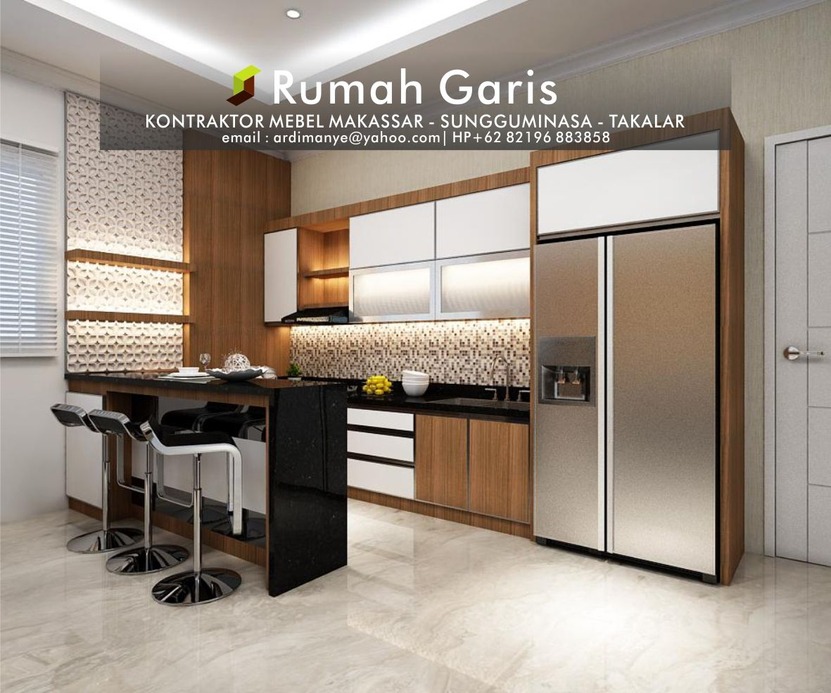 Kontraktor Dapur Kitchen Set Interior Mebel Lemari Gantung Makassar