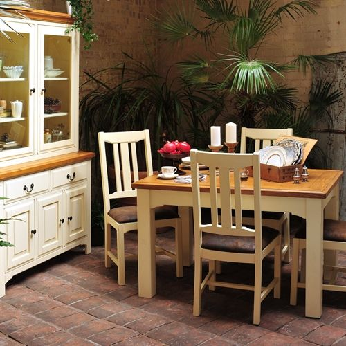 Westbury Painted 125cm 165cm Dining Table With 6 Chairs