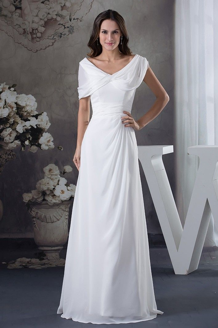 Shop best price a-line v-neck floor-length chiffon wedding dress online. Free  Shipping and Custom-made. Pro since 2009. 62c57f18b49f