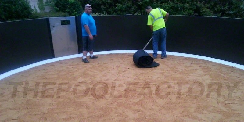 Installation sand 7 above ground pool installation for Above ground pool installation