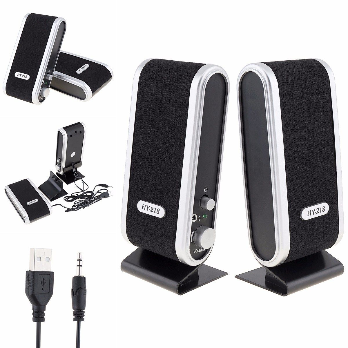 USB Power Wired Computer Speakers Stereo 3.5mm Jack for Desktop PC Laptop New US