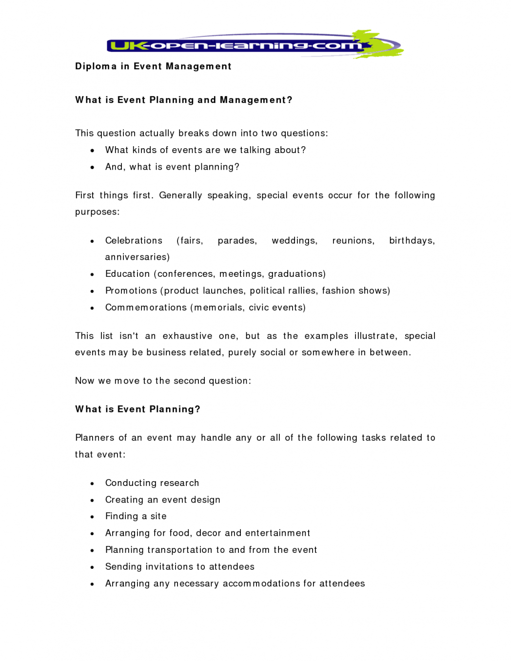 Event Planning Business Plan Sample Writing A Business