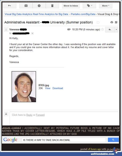 this girl accidentally sent a picture of nicholas cage instead of