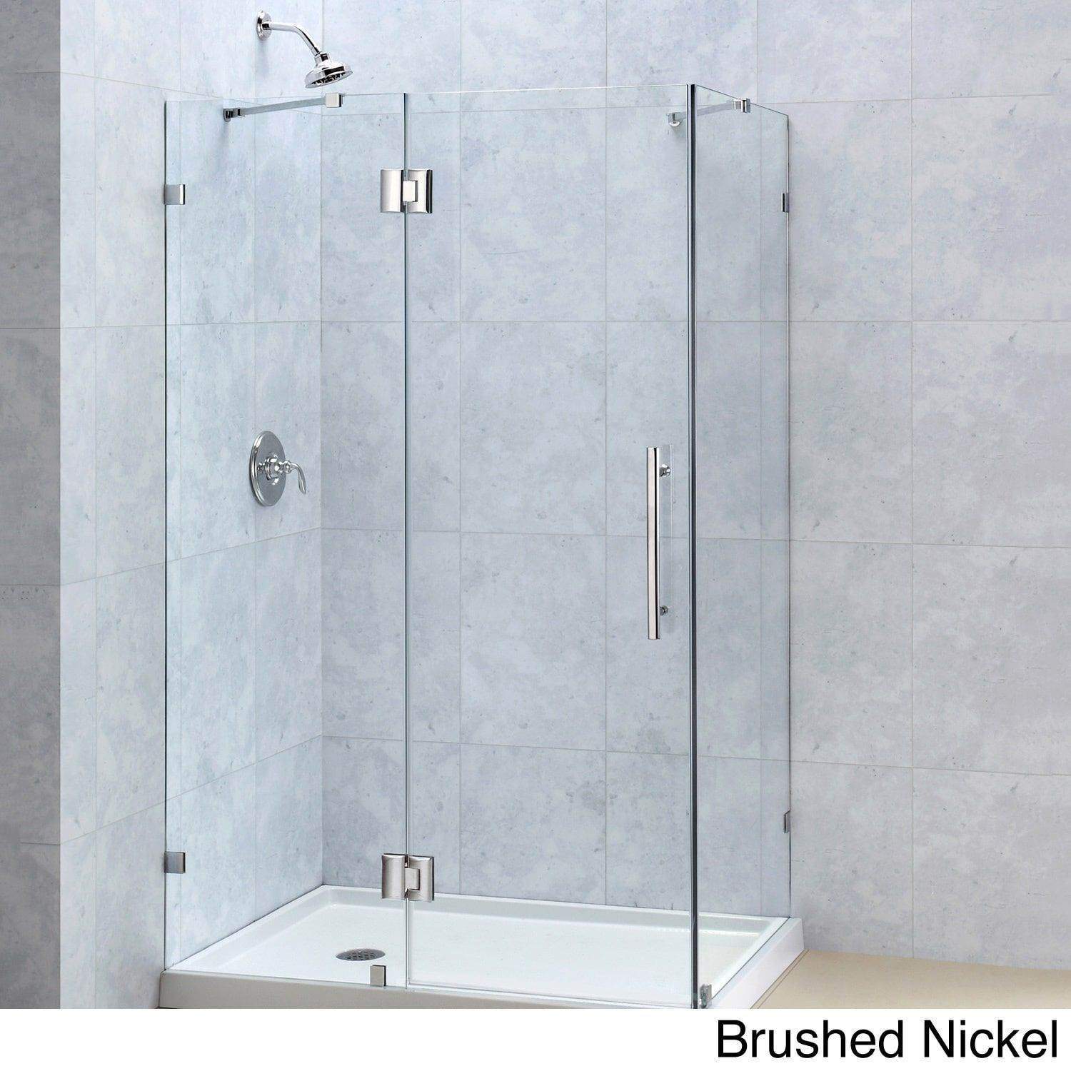 DreamLine Quatra Lux 34 x 46-inch Frameless Hinged Shower Enclosure ...