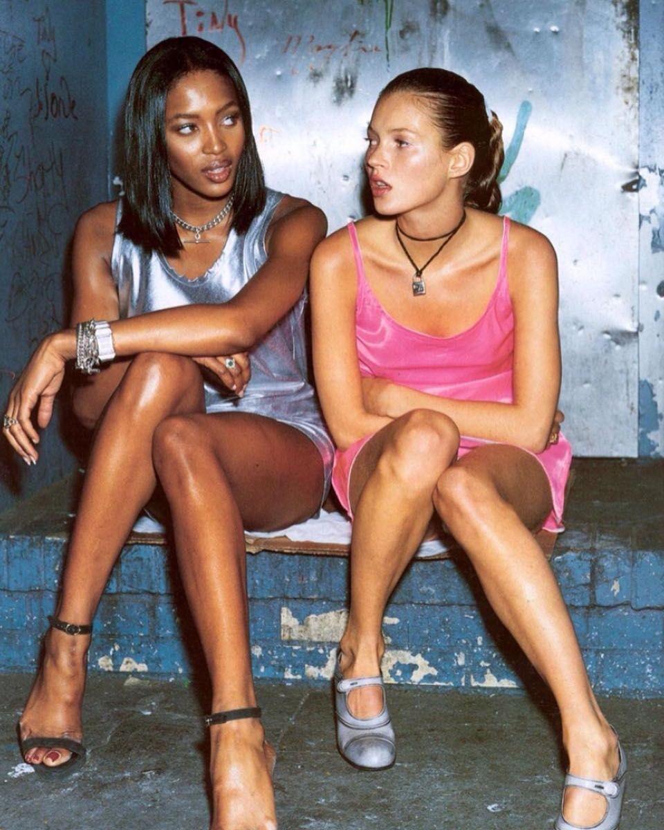 Naomi Campbell Kate Moss Flaunts Their Sizzling: Naomi Campbell And Kate Moss