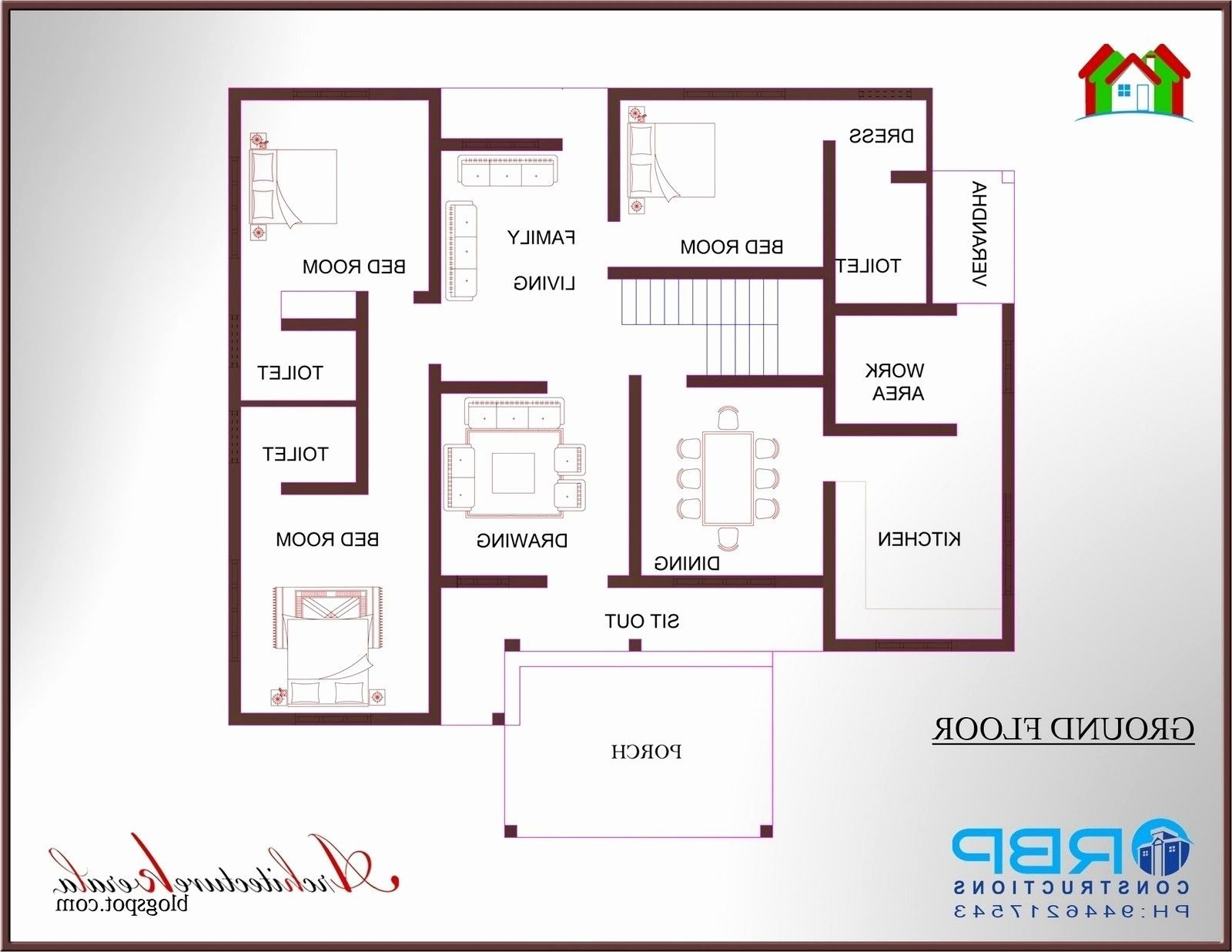 Lovely 2 Bedroom House Plans Kerala Style 1200 Sq Feet Awesome Ft