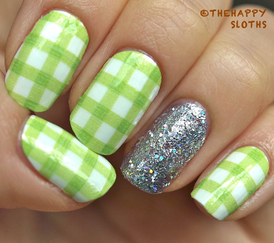 Picnic in The Park Nails Featuring Sally Hansen Salon Effects Real ...