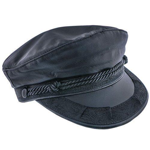 Capheria - Aegean AEG103 Brown Leather Greek Fisherman Hat in 2019 ... 919bc4867204