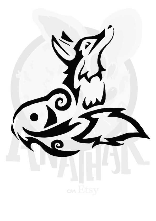 Tribal Fox 1 By Tessasglory On Deviantart Tribal Drawings Tribal Fox Fox Tattoo Design
