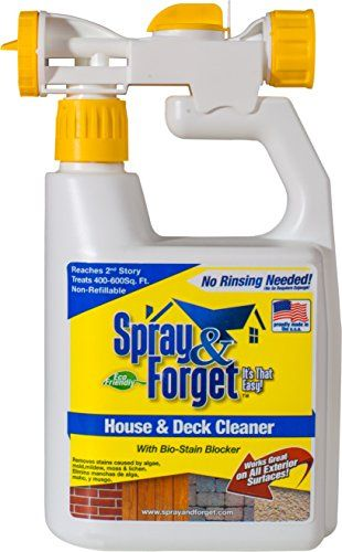 Decorative Fences Spray Forget House Deck Cleaner With Hose End Sprayer 32 Oz Bottle 1 Count Outdoor Cleaner Mold Deck Cleaner Mildew Remover Mold Remover
