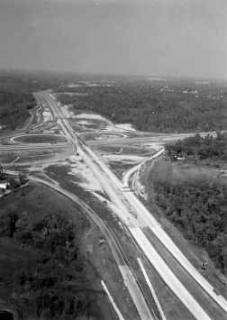 Historical arial photo of I-44