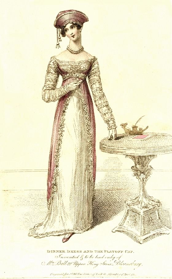 Dinner Dress and the Platoff Cap, April 1814. | NOLA Regency January ...