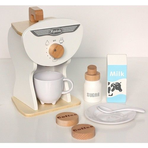 White Toy Coffee Machine Set