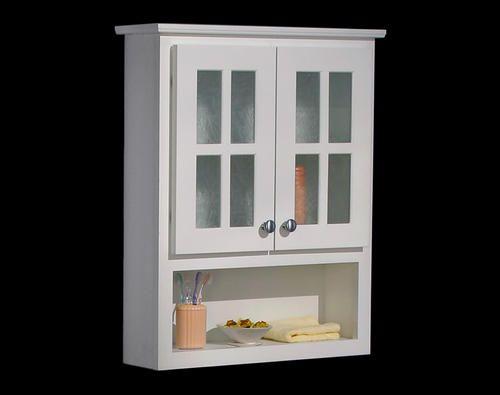 Shaker Door White Toilet Topper