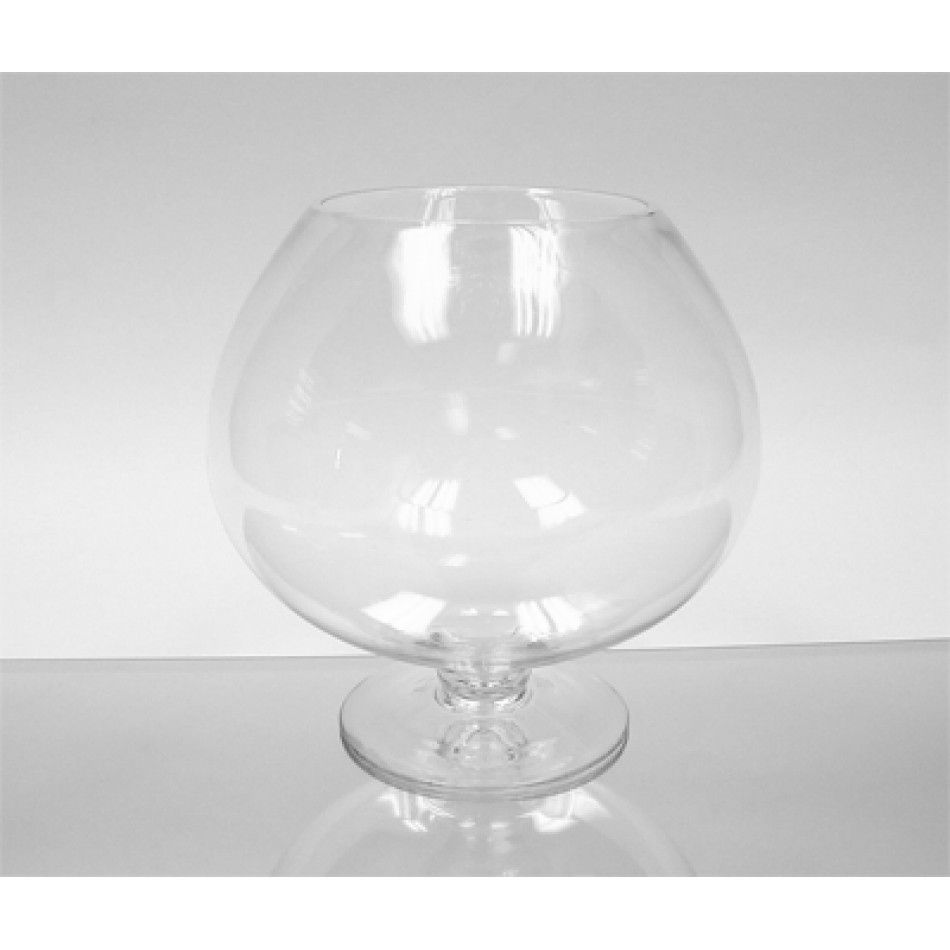 9 x 9 Clear Glass Stem Bowl Vase (BULK Case of 4 = $13.25 Per Vase ...
