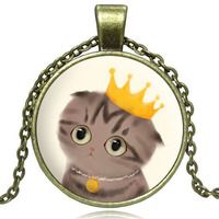 I WAS BORN A QUEEN CAT NECKLACE