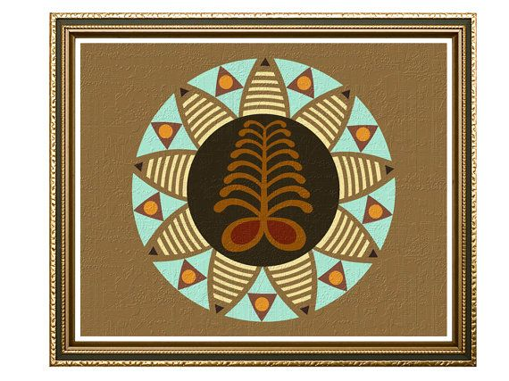 African American Wall Art And Decor adinkra symbols aya, african modern art design, african symbols