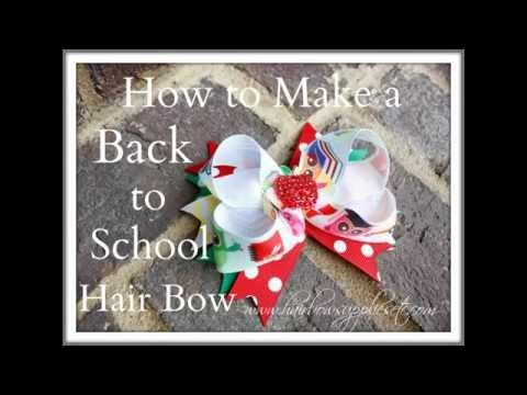 How to Make a Back to School Hair Bow – Hairbow Supplies, Etc.