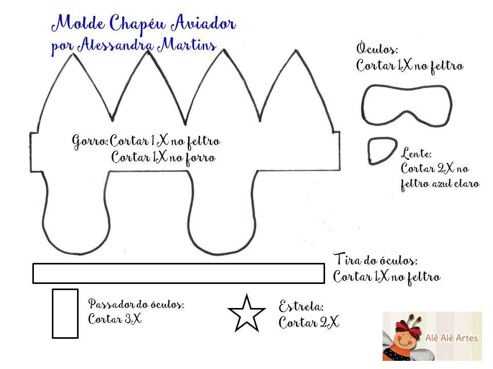 Increíble Aviador Patrón De Costura Sombrero Modelo - Manta de Tejer ...