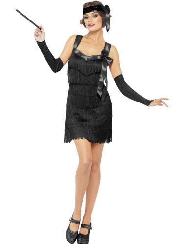 Fever Flapper Foxy Costume (22824) | Ladies Gangster Flapper Costumes | Fancy Dress Ladies Gangster Flapper Accessories | Ladies