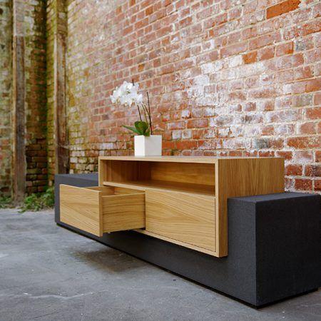 Beton Sideboard Tobias 2 Beton Mobel Tv Mobel Beton Und Holz