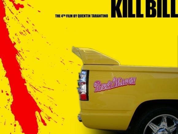 PUSSY WAGON T-SHIRT Quentin Movie Uma Tarantino Thurman Kult Kill Bill T-Shirt