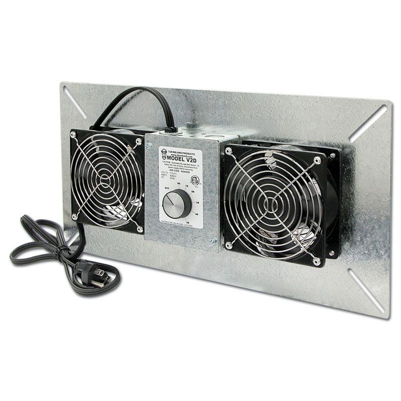 Basement Ventilation Fan Part - 50: 220 CFM Crawl Space Ventilator - Two Powerful Fans With Large Galvanized  Faceplate Sized For Ventilation