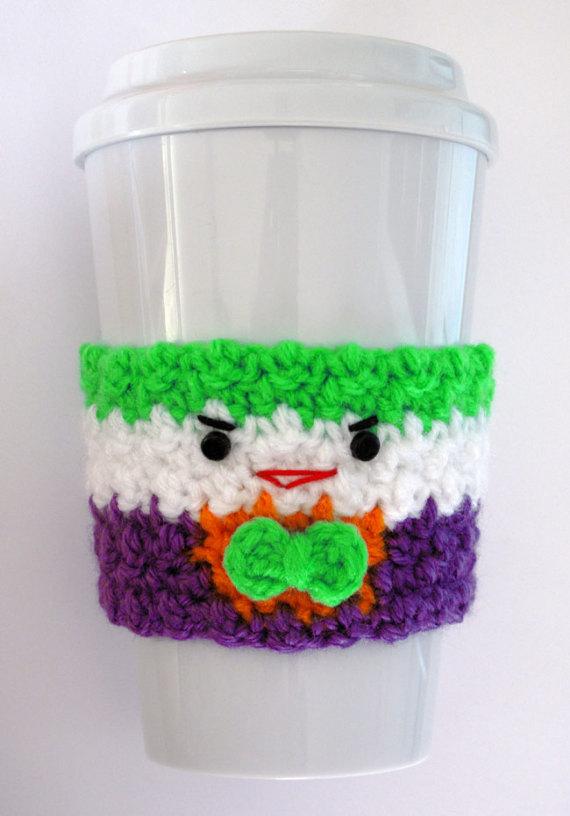 Crochet el Joker acogedor de la taza de café | Amigurumis ...