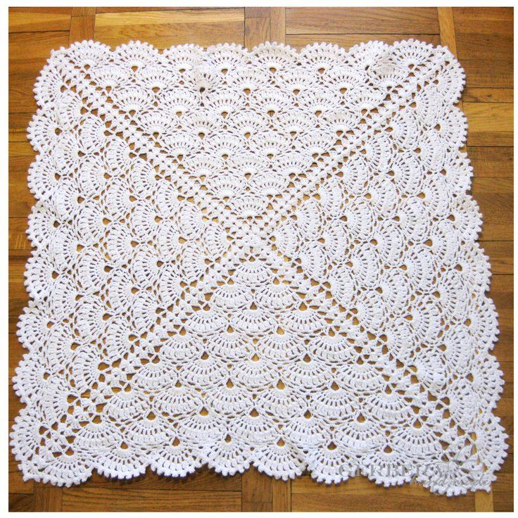 Christening Baby crochet blanket – Baby Girl Blanket and Baby Boy blanket