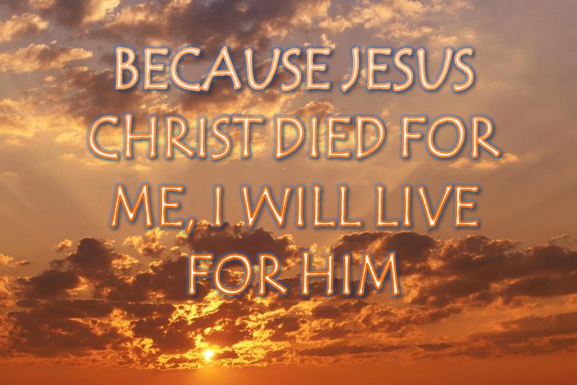 Mi vida está en Cristo.