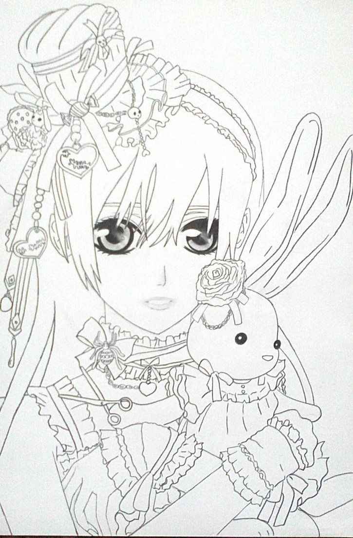 Anime Vampire Girl Coloring Pages Anime Vampire Girl Coloring ...
