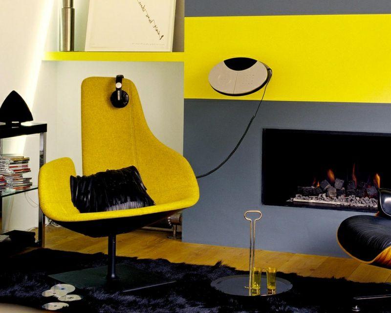 40 moderne Wandfarben Ideen für das Wohnzimmer - Wohnzimmer Grau Orange