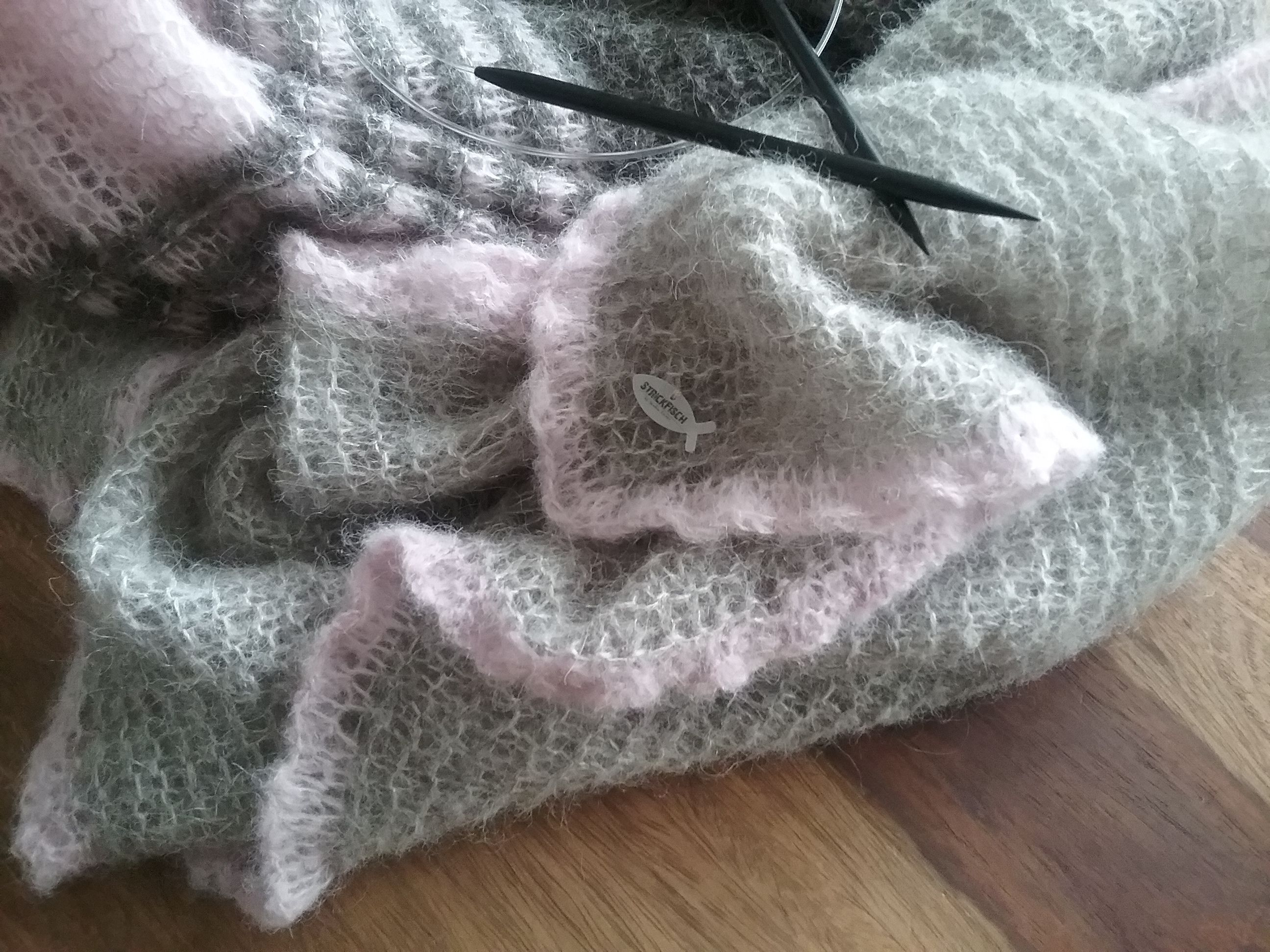 Photo of Knit STOLA, cape or XXL scarf