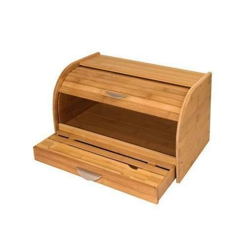 Target Bread Box Amusing Bamboo Rolltop Bread Box P595Kch01081  Bread Boxes Patio Kitchen Design Decoration